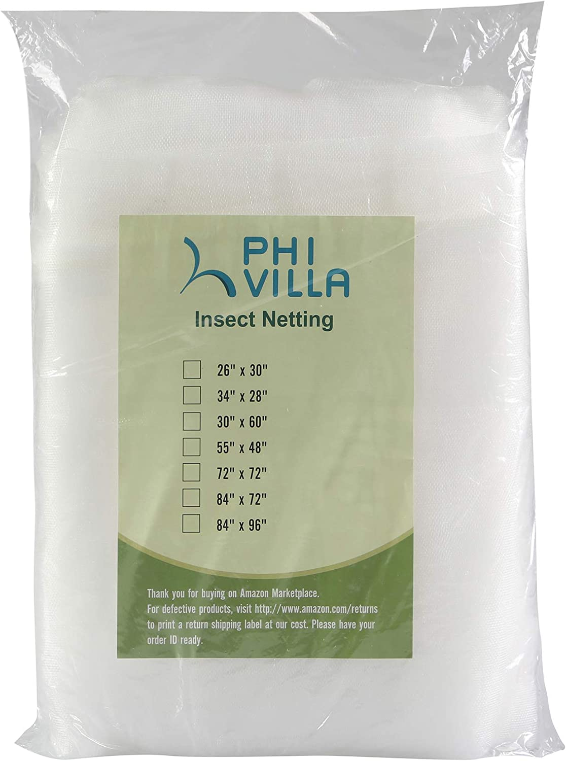 PHI VILLA Tree Bag Netting - Insect/Bird Netting - Tree Cover with Zipper Closures 84