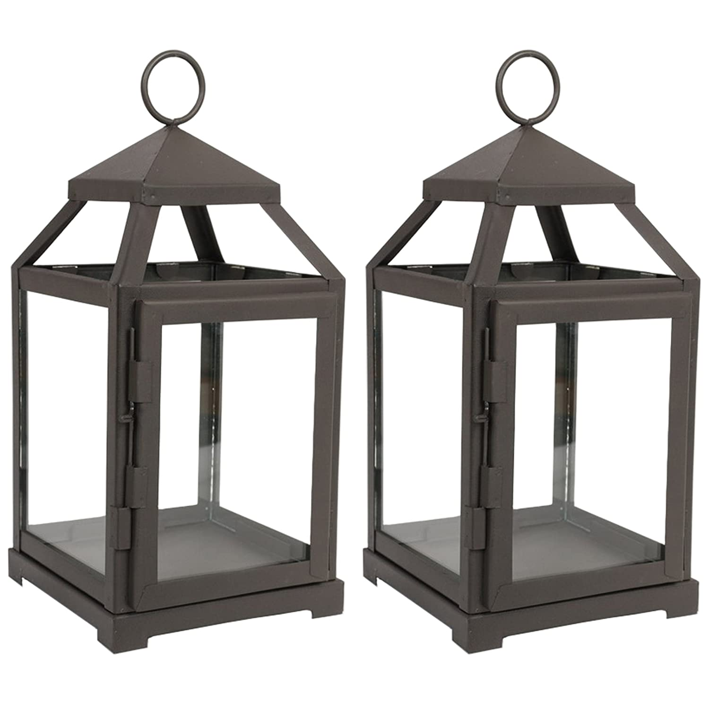Set of 2 iron lanterns