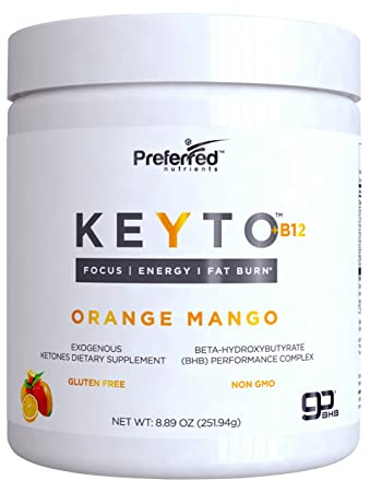 KEYTO Plus B12 BHB Salts Beta-Hydroxybutyrate Supplement Powder Exogenous Ketones & Vitamin B12 by
