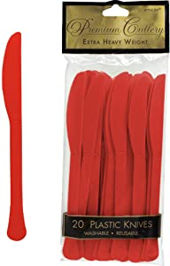 Amscan Plastic Knives, 10.5