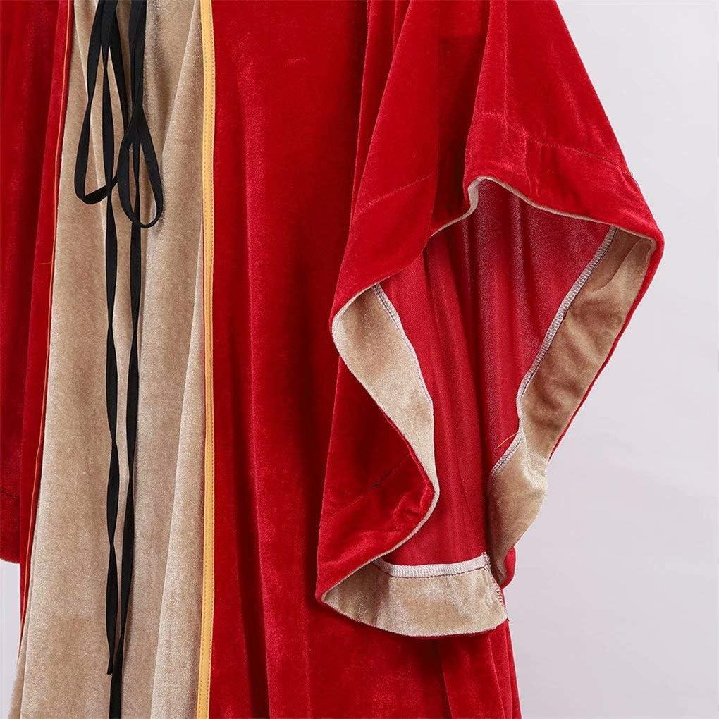 Josamogre Renaissance Femmes Robes M/édi/évale Velours Manches Longues Parti D/éguisements Costume Halloween De Mari/ée Gothique