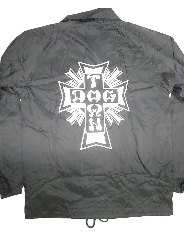 DOGTOWN ドッグタウン CROSS LOGO クロスロゴ コーチジャケット 黒 ブラック B01N0816RQ   M