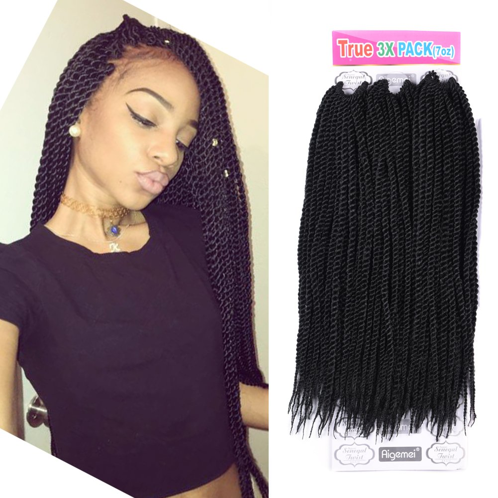 Amazon.com  Senegalese Twist Hair Crochet Braids Hairstyles 2S Pretwist Box Braid Crochet Hair ...