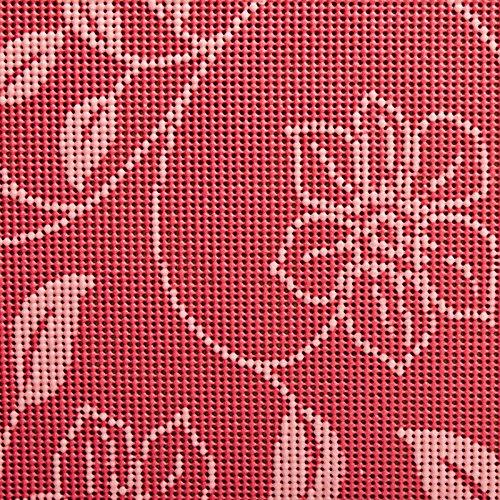 casa pura® Tischdecke Bianca   Rot mit verspieltem Blumenmuster   Weichschaum für Garten und Balkon   rechteckig 130 cm x 160 cm