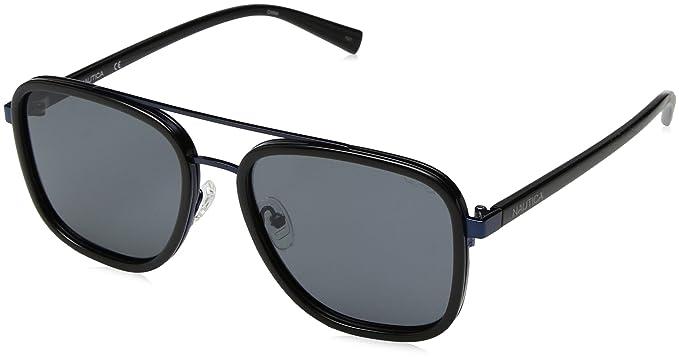 60ed914df6 Amazon.com  Nautica Men s N4626sp Polarized Aviator Sunglasses BLACK ...
