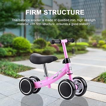 Bicicleta Sin Pedales Bicicleta de Equilibrio Asiento Ajustable y ...