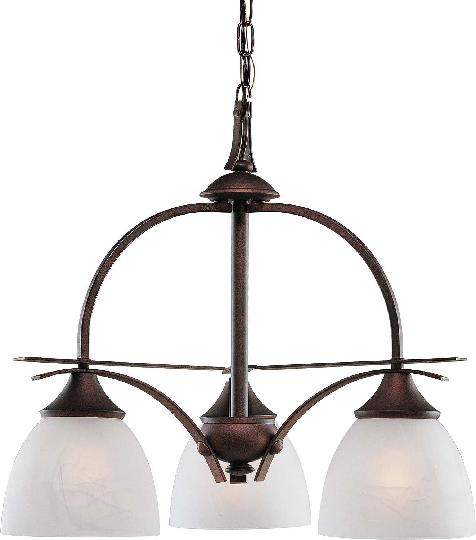 Volume lighting v4823 31 durango 3 light italian dusk chandelier 21 75 x 21 75 x 18 5 amazon com