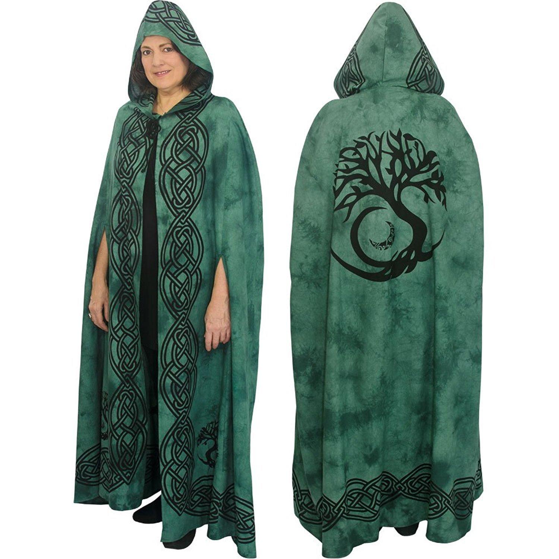 Ritual Cotton Cloak (Tree of Life Green)