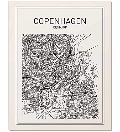City Maps, Copenhagen Map, Denmark Map Print, Map Print, Map Art Print, on map flags, map design, antique maps and prints, map clothing, map of california, map accessories, map home decor, map wedding, map medieval prints, map craft prints,