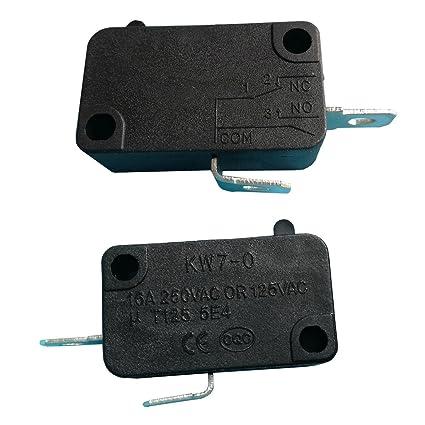 Amazon.com: Microinterruptor eléctrico de 2 clavijas de 16 A ...