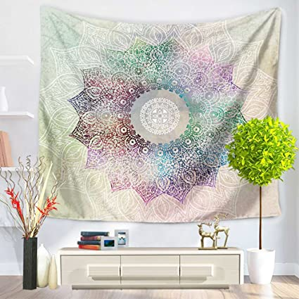 Mandala Tapestry Wall Hanging 100% Cotton Bohemian Wall Decor Tapestry  Hippie Wall Tapestries Table Covers