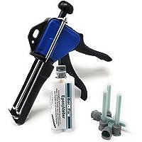 Ber-Fix® 12x 50g epoxyhars transparant 30 minuten 50 ml cartridge + doseerpistool – super sterke grip – hars en…
