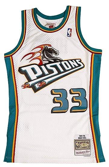 premium selection cdfa7 263a5 Amazon.com : Mitchell & Ness Detroit Pistons Grant Hill 1998 ...