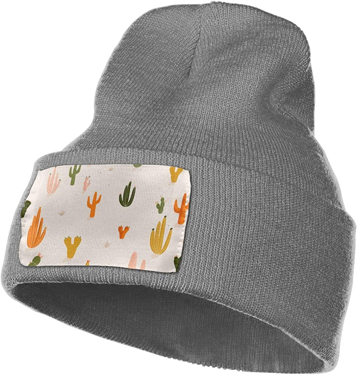 TAOMAP89 Colorful Cactus Women and Men Skull Caps Winter Warm Stretchy Knitting Beanie Hats