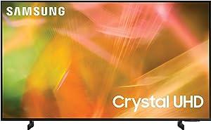 SAMSUNG 75-Inch Class Crystal UHD AU8000 Series - 4K UHD HDR Smart TV with Alexa Built-in (UN75AU8000FXZA, 2021 Model)