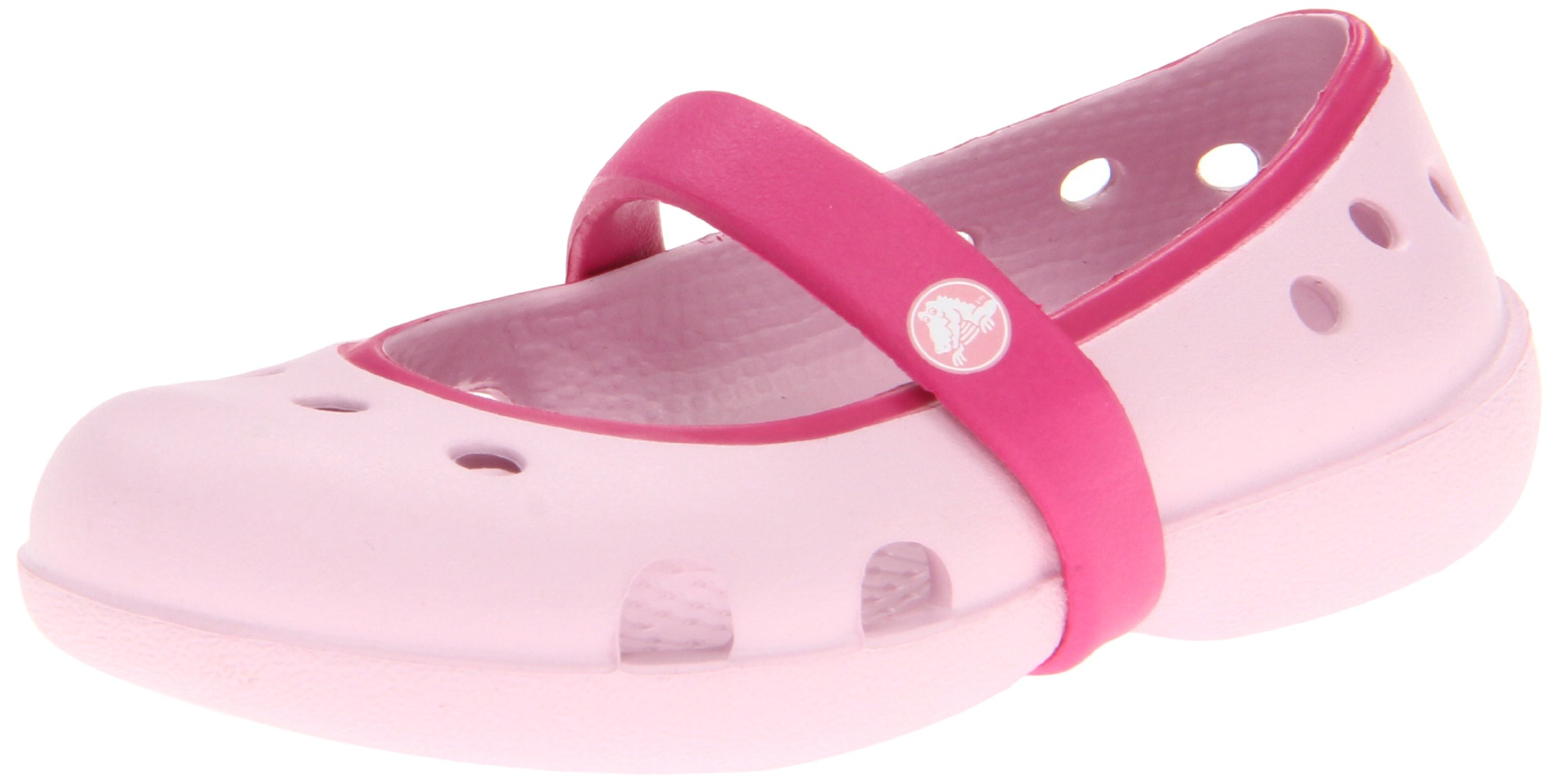 Crocs Keeley Mary Jane (Toddler/Little Kid),Bubblegum/Fuchsia,12 M US Little Kid