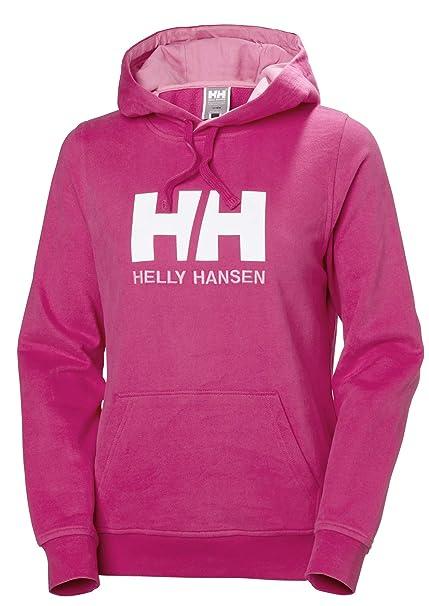 Helly Hansen W Hh Logo Hoodie, Sudadera con capucha para Mujer, Rosa (Rosa