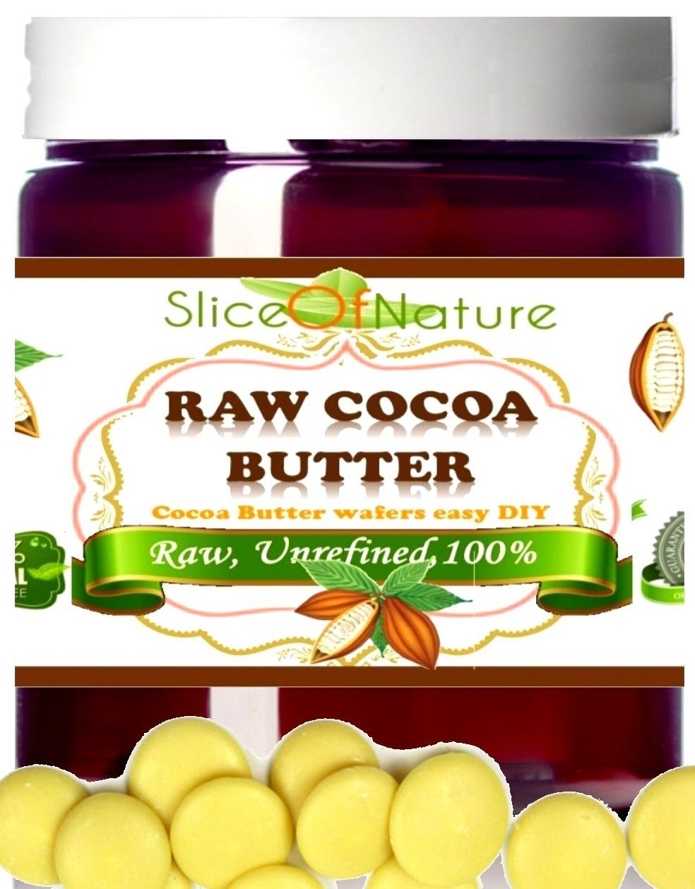 Amazon Com Slice Of Nature Raw Cocoa Butter Use For Stretch