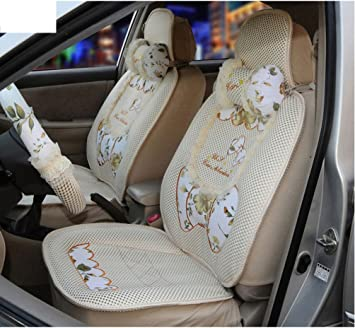1sets Women Car Sea Cushionice Silk Seat Coverscool