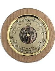 Sunartis Home Barometer Solid Oak Round Mount Weather Instrument Width 150mm x Depth 45mm