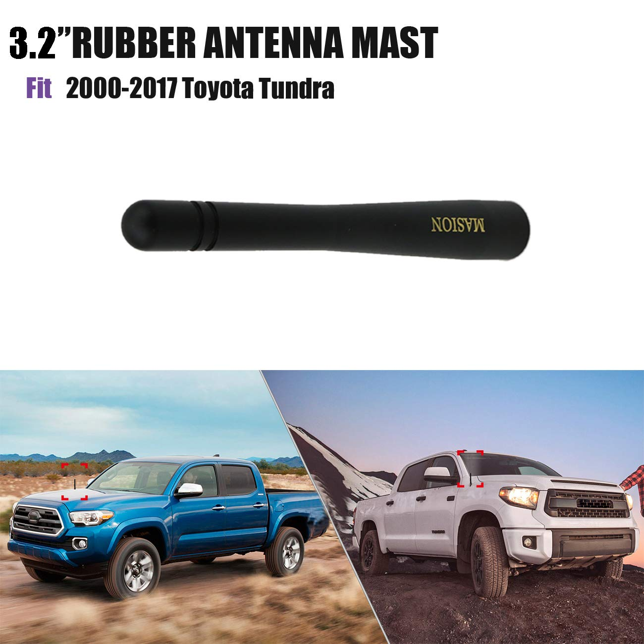 Replacement AM FM Accessories Audio for 2000-2015 Nissan Xterra Black 3.2 Short Copper Vehicle Universal Antenna