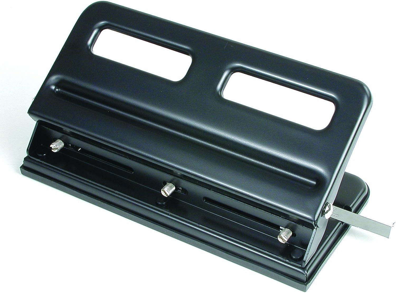 Black 3-Hole Adjustable 74110 Swingline M110 Economy Heavy Duty Paper Punch 30-Sheet Capacity