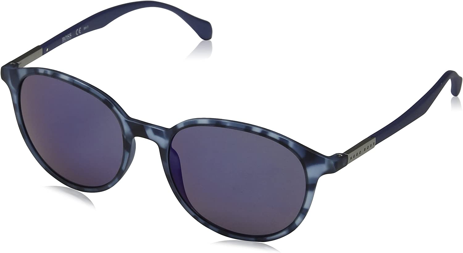 BOSS Hugo 0822/S XT YX2 Gafas de sol, Azul (Bluette Havana/Blue Sky Grey Speckled), 53 Unisex-Adulto