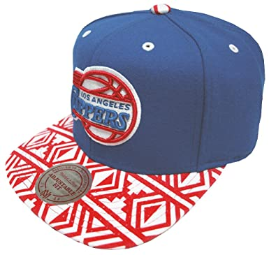 sports shoes edded 55c10 Image Unavailable. Image not available for. Color  Mitchell   Ness Los  Angeles Clippers Aztec Snapback EU157 Cap Kappe Basecap