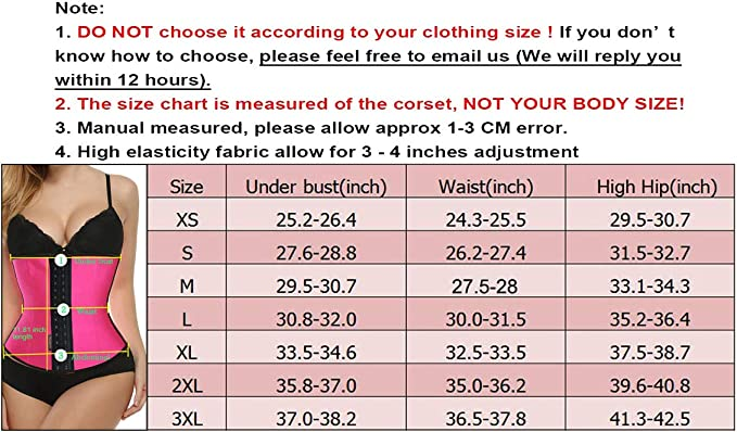70dccd6c72b5f FIRM ABS Women s Underbust Latex Waist Trainer Hourglass Body Shaper Black  at Amazon Women s Clothing store