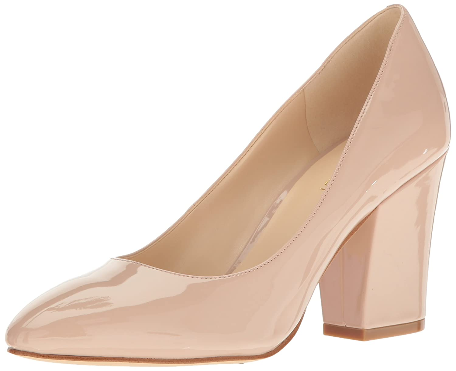 Nine West Women's Scheila Patent Dress Pump B01NA68PRN 5.5 B(M) US|Natural