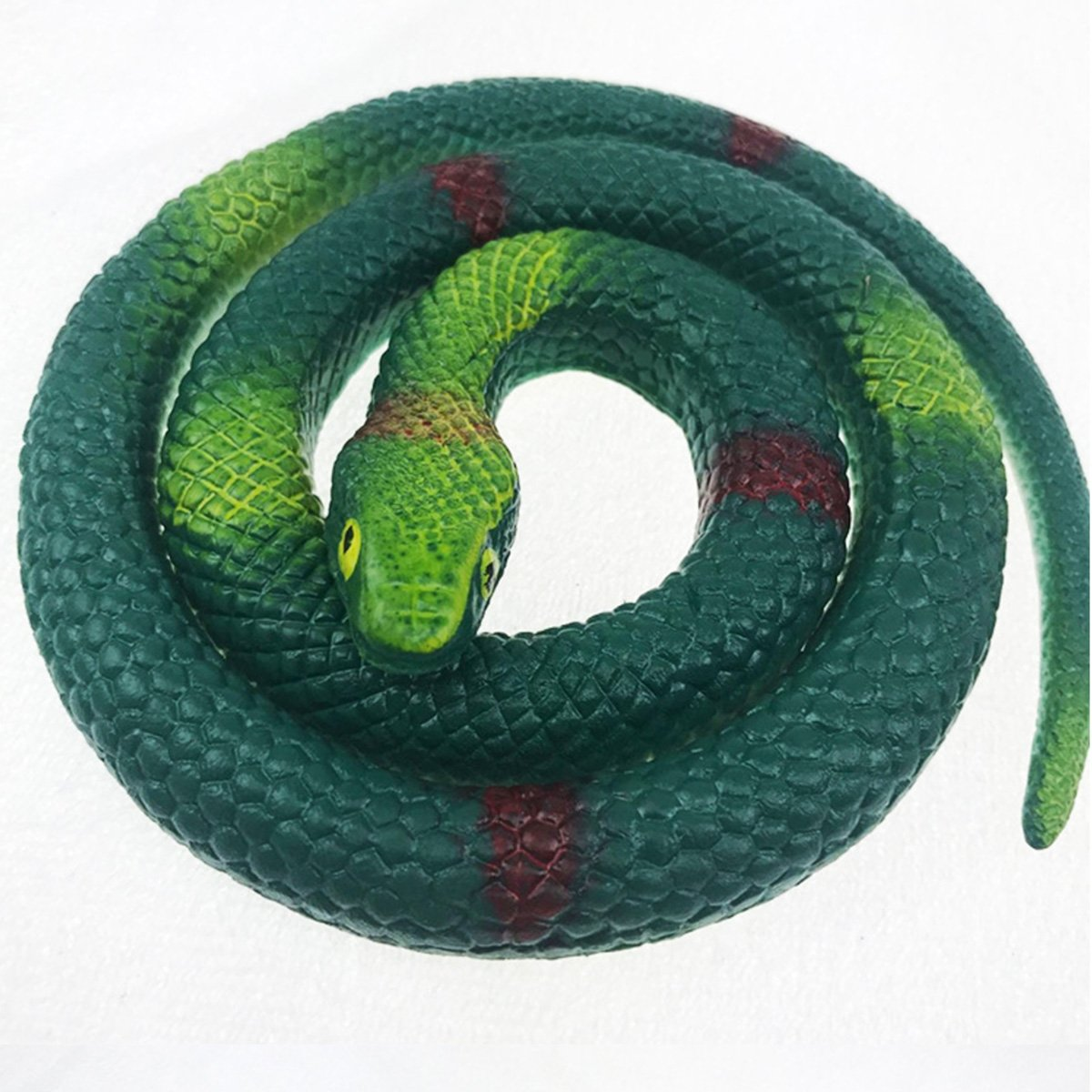 """Fake Rubber Snake Large 30/"""" Decoration Prop Halloween Scary Colorful Snakes NEW"""