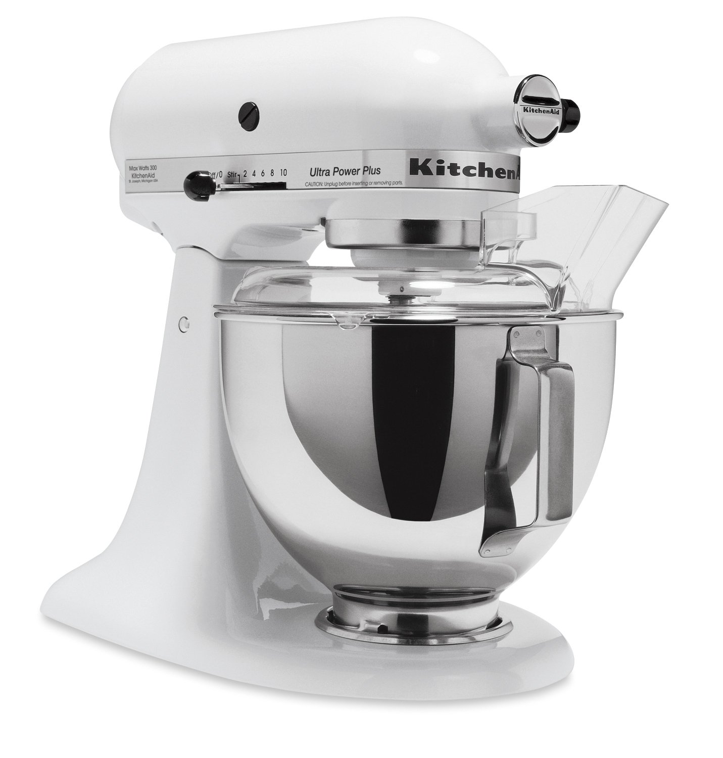kitchenaid ksm100pswh ultra power plus stand mixer white
