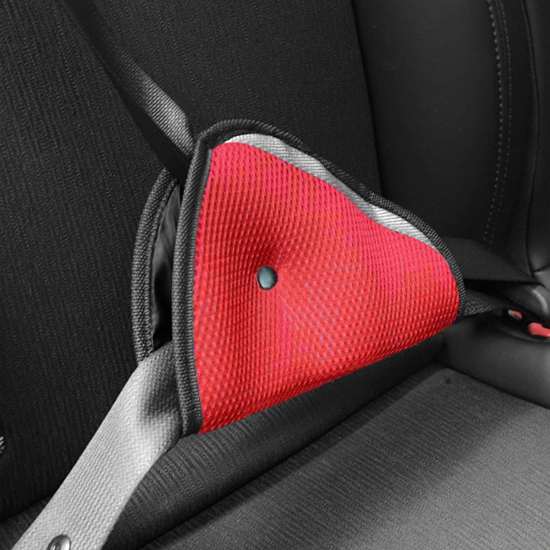 Safety Belt Strap Protector for Children Baby Adult Seat Belt Cover Red AK KYC 2 Pcack Car Seatbelt Adjuster for Kids Blue Car Seatbelt Triangle Adjusters