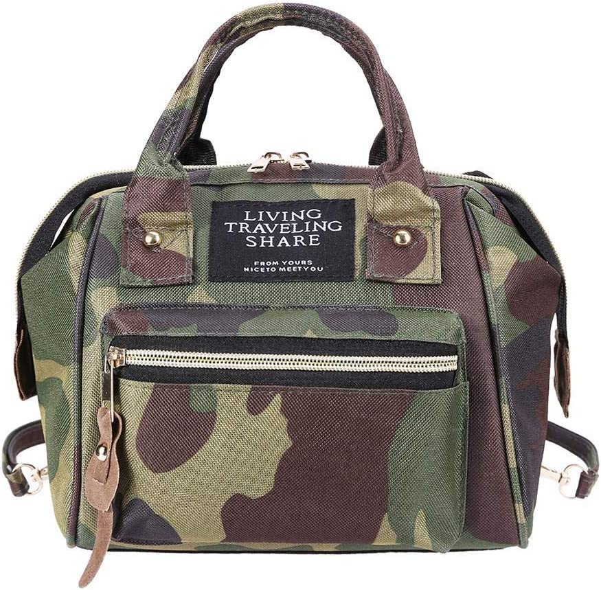 Mommy Maternity Mini Shoulders Backpack Multi Nappy Changing Backpack Bag Multi-Function Waterproof Travel Backpack Camouflage Beaulies Diaper Bag