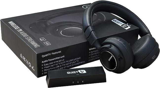 QuietTV Auriculares inalámbricos para ver la televisión ...