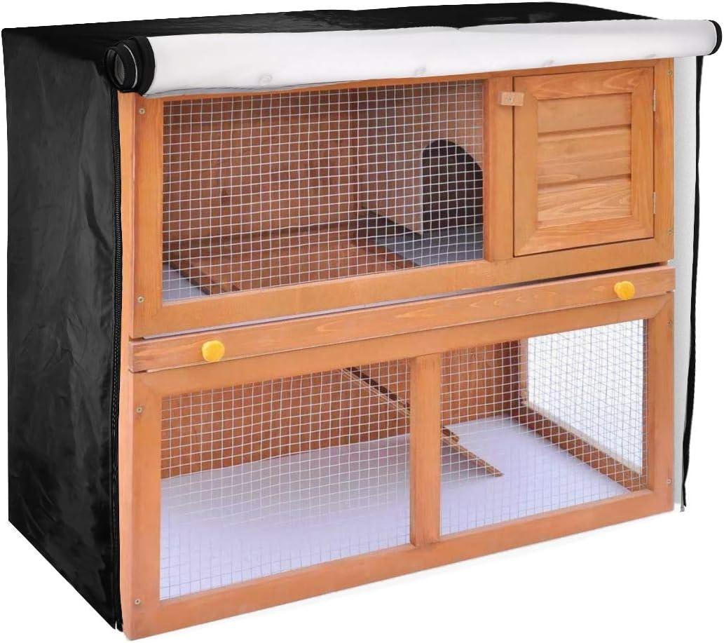 Housse universelle pour clapier, résistante à l'humidité, anti-poussière, pour lapins, chats, hamsters, chatons, animaux domestiques