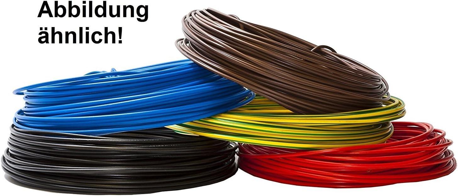 10m Draht flexibel Verdrahtungsleitung H05V K 0 75 qmm Litze Einzelader