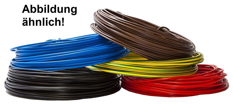 Aderleitung - Einzelader flexibel - PVC Leitung - H07V-K 1, 5 mm² - Farbe: grün gelb 10m/15m/20m/25m/30m/35m/40m/45m/50m/55m/60m bis 100 m frei wählbar Diverse Markenhersteller