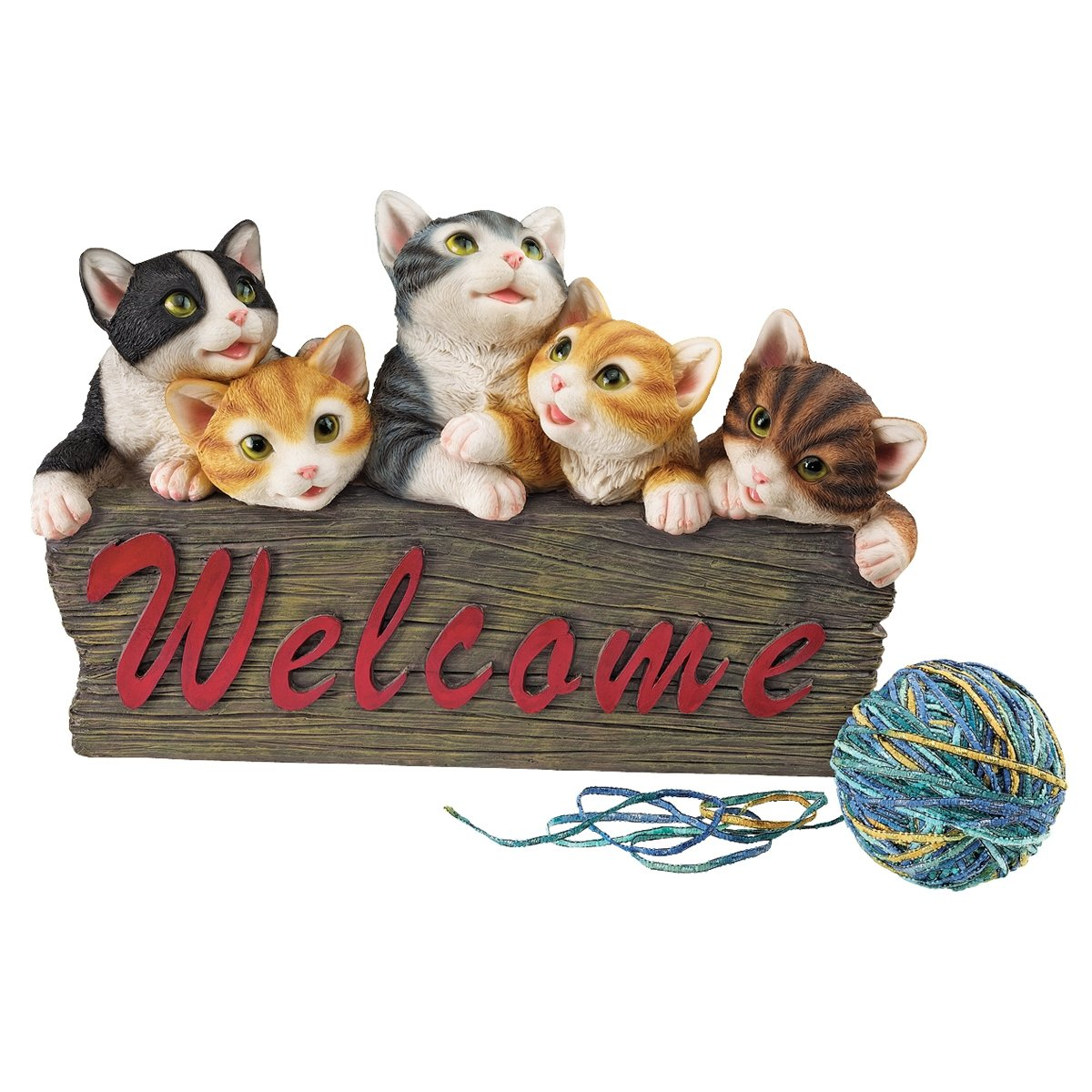 amazon com design toscano kitten kaboodle cat welcome sign
