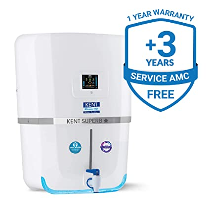 KENT Superb Star 9-litres Wall Mountable RO + UV + UF + TDS Controller  (White) 20-Ltr/hr Water Purifier