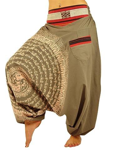 pantalones bombachos para hombre y mujeres entrepierna caída con Mandala dibujados a mano como ropa ...
