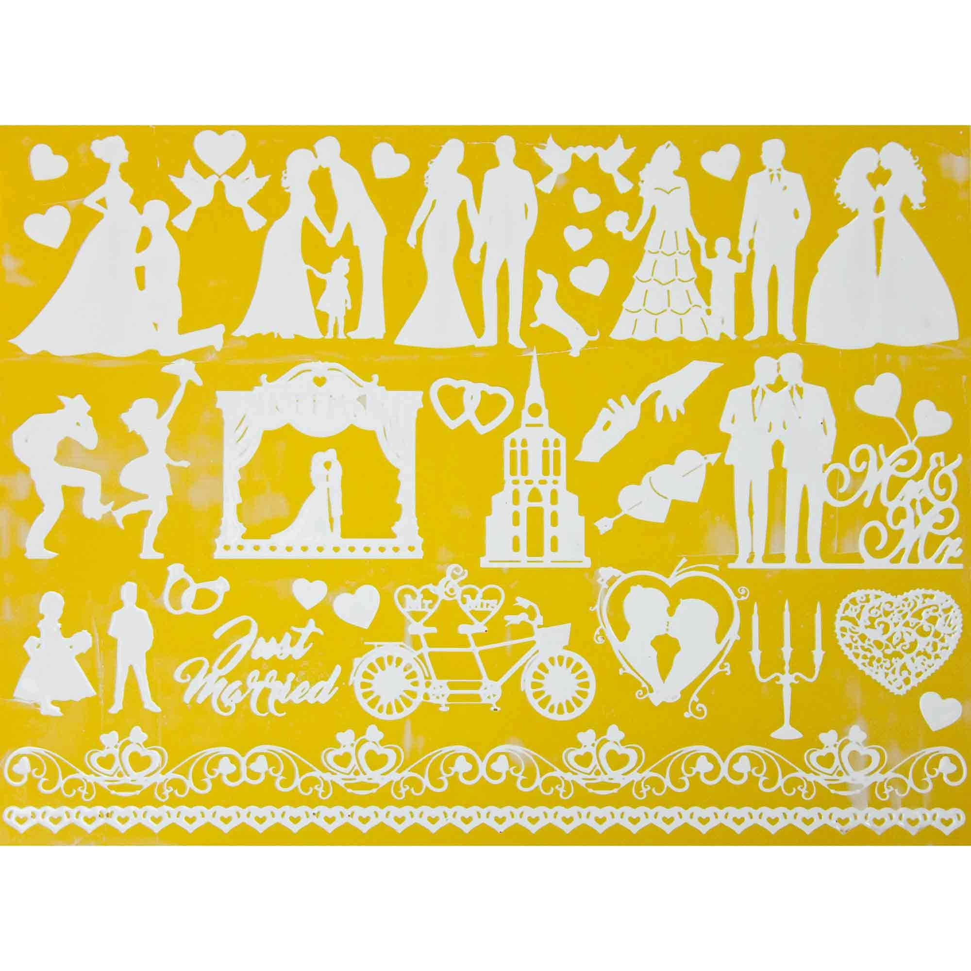 Love And Marriage Silhouette Silicone Lace Mat by Chef Alan Tetreault