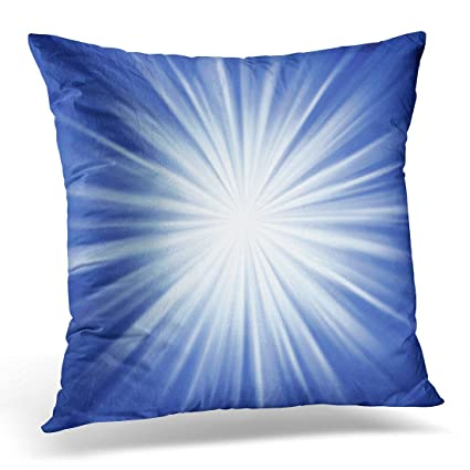 Amazon UPOOS Throw Pillow Cover Bright Detailed Blue Starburst Cool Starburst Decorative Pillow