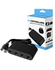 Adaptateur Manette Gamecube Convertisseur 4 Ports Controller Adapter pour Wii U / Nintendo Switch / PC