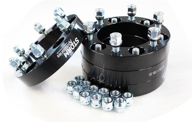Set of 4 X 30mm Wheel Spacers to fit 6 x 139.7 PCD (M12x1.5) to fit Ranger Pick Up STX