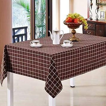 Nauy Checkered Tischdecke Stoff Baumwolle Leinen Rechteck Tisch