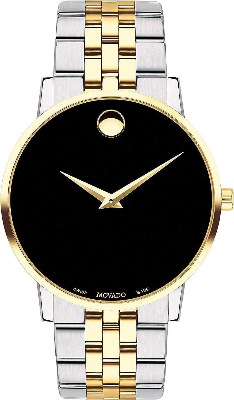 Movado Museum Reloj de Hombre Cuarzo 40mm Correa de Acero Doble Tono 0607200