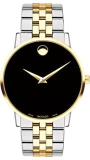 40a04b1c7db Amazon.com  Movado Stiri Black Dial Two-Tone Mens Watch 606950  Watches