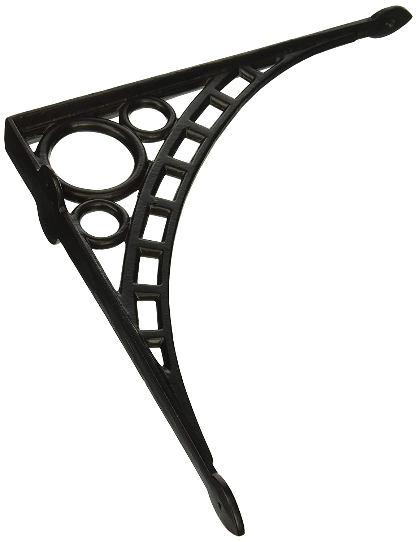 Matching Screws Included RCH Hardware 7902BLK Fancy Decorative Cast Iron Shelf Bracket Black