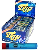 Trip2 Cellulose Clear Rolling Papers Mini Size (24 Packs/Full Box) with Rolling Paper Depot Doob Tube